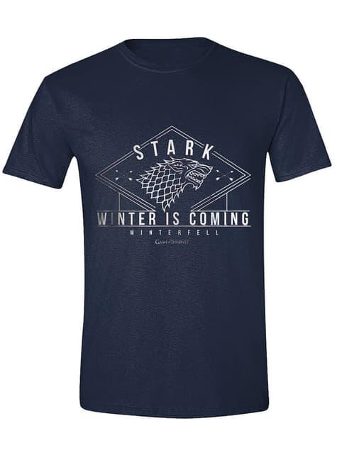 Camiseta Casa Stark Winter is coming para hombre - Juego de Tronos