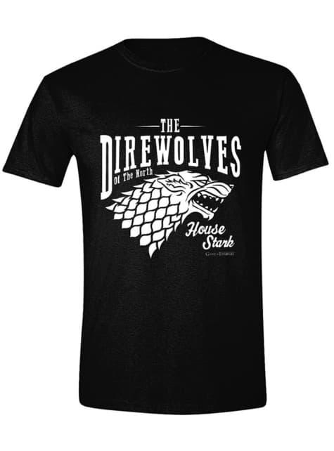 House Stark T-Shirt for Men, Black - Game of Thrones
