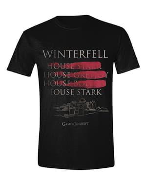 בית סטארק Winterfell בחולצת טריקו לגברים - משחקי הכס