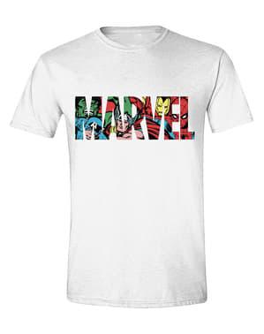 Marvel logo värillisenä t-paita miehille