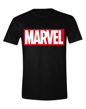 T-shirt Marvel logo rouge homme
