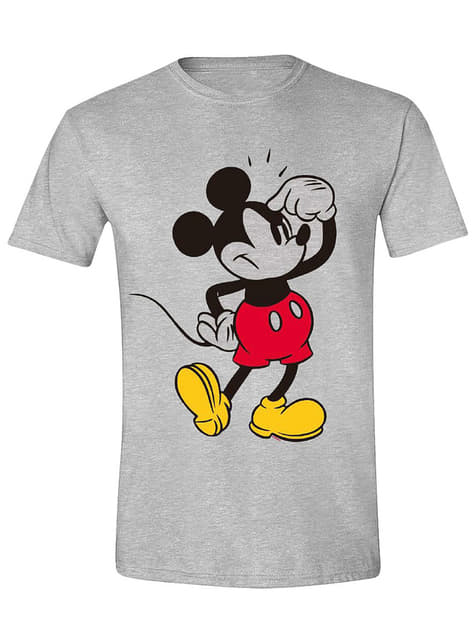 Mickey Mouse Thinking T-Shirt for Men - Disney