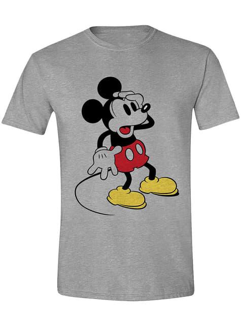 Camiseta Mickey Mouse sorprendido para hombre - Disney