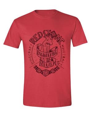 लाल में पुरुषों के लिए Minecraft टी शर्ट