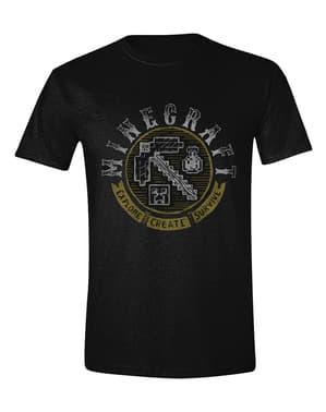 ब्लैक में पुरुषों के लिए Minecraft टी-शर्ट