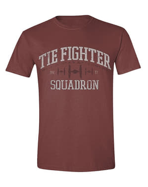 Erkekler için Star Wars Kravat Avcı Filosu T-Shirt
