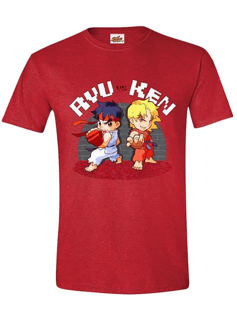 T-shirt Street Fighter Ryu e Ken para homem