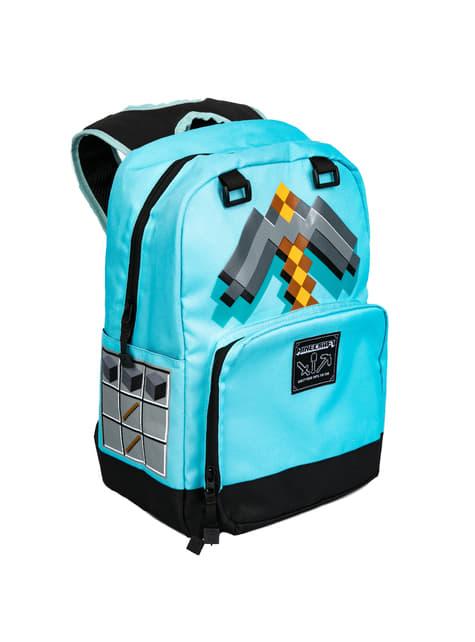 Mochila de Minecraft Espada Diamante azul