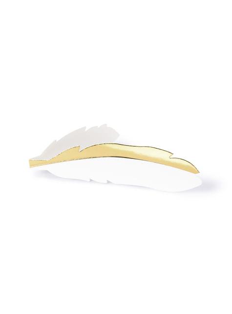 10 marcasitios para mesa con forma de pluma - Heaven Sent