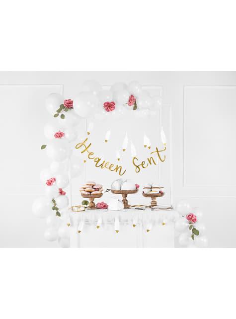 10 cartões para mesa em forma de pena - Heaven Sent