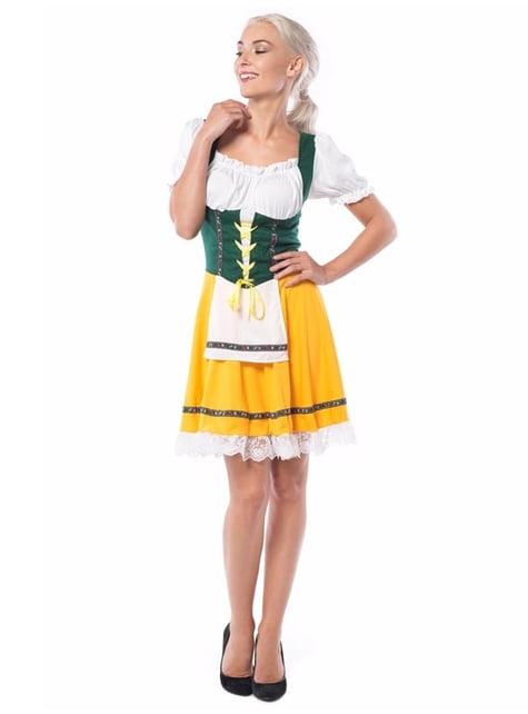 Disfraz de bávara amarillo para mujer