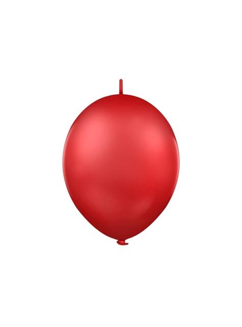 100 balões Link-o-loon cor vermelha - Linking Ban