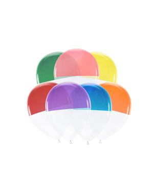 7 balões com duas cores variados (30 cm)