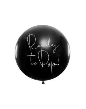 Латекс повітряна куля з рожевим конфетті «Готовий до попа»