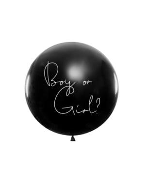 """Pembe konfeti """"oğlan veya kız"""" ile lateks balon"""