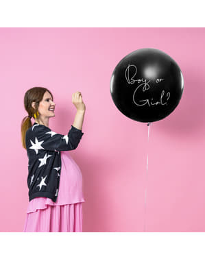 Latexballong med rosa konfetti