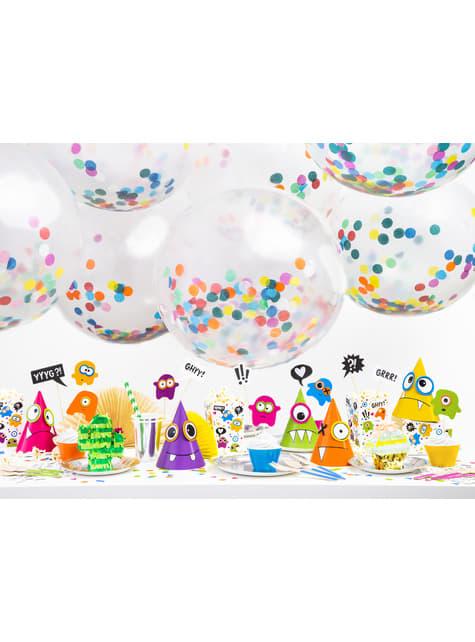 Globo de látex con confeti de círculos de colores - para tus fiestas