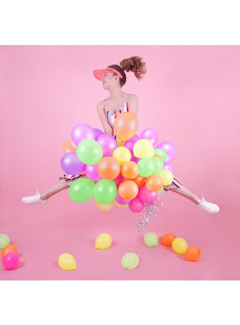 5 balões várias cores néon (25cm)