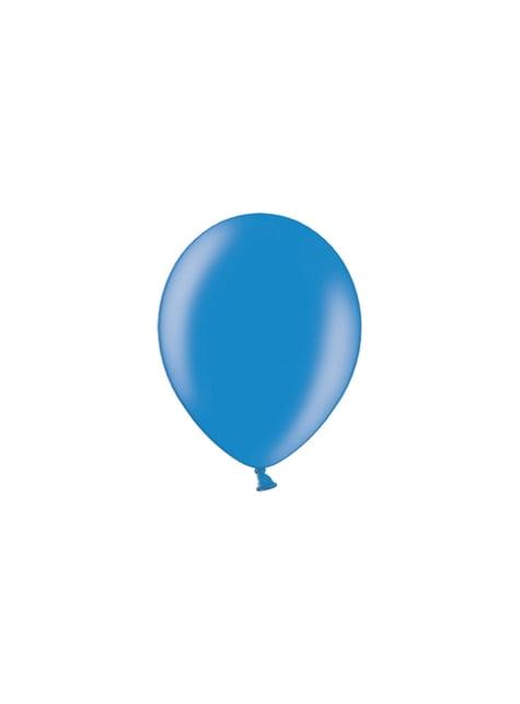 100 balões de cor azul (25cm)