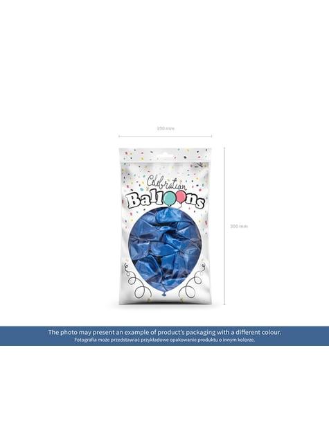 100 globos color azul (25 cm) - para tus fiestas