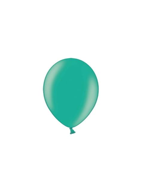 100 balões de cor verde (25cm)