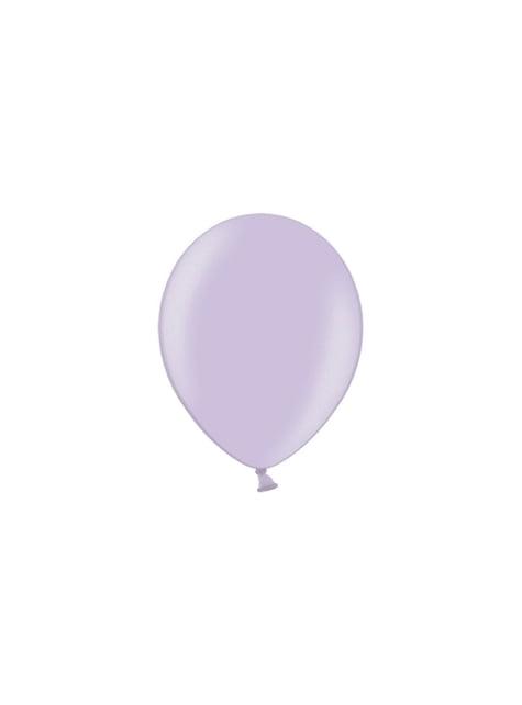 100 balões de cor lilás (25cm)