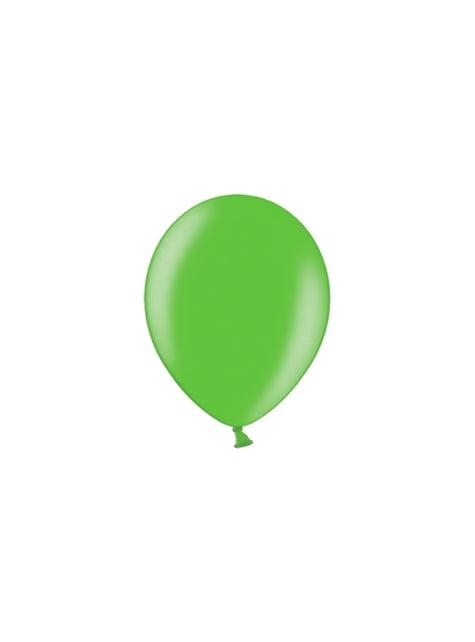 100 balões de cor verde claro (25cm)