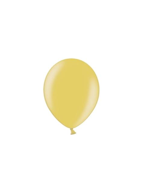 100 globos color dorado (25 cm)