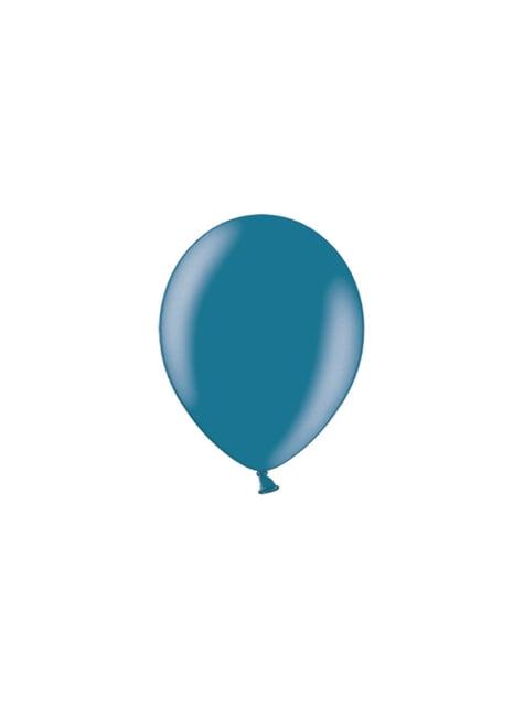 100 balões de cor azul marinho (25cm)