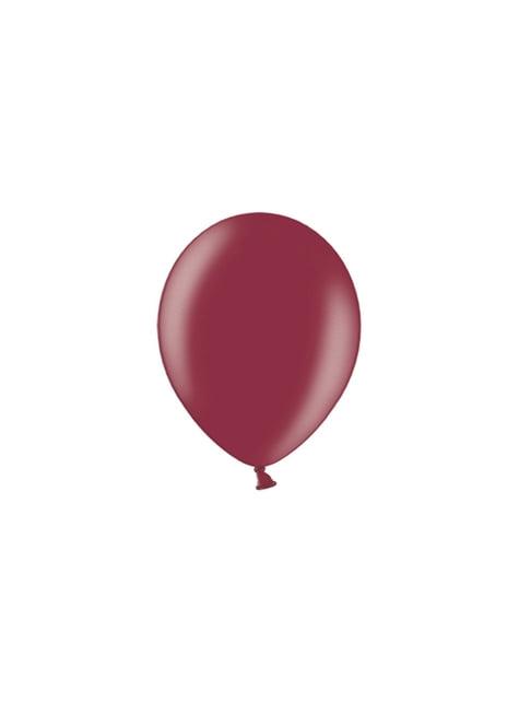 100 ballons 25 cm couleur grenat foncé
