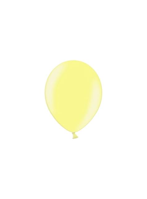 100 globos color amarillo (25 cm)