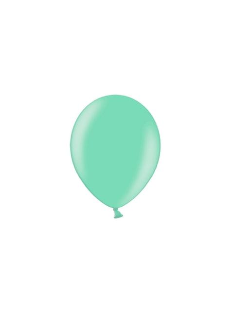 100 balões de cor esverdeada (25cm)