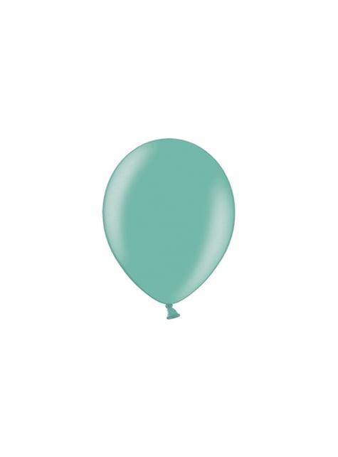 100 globos color verde menta (25 cm)