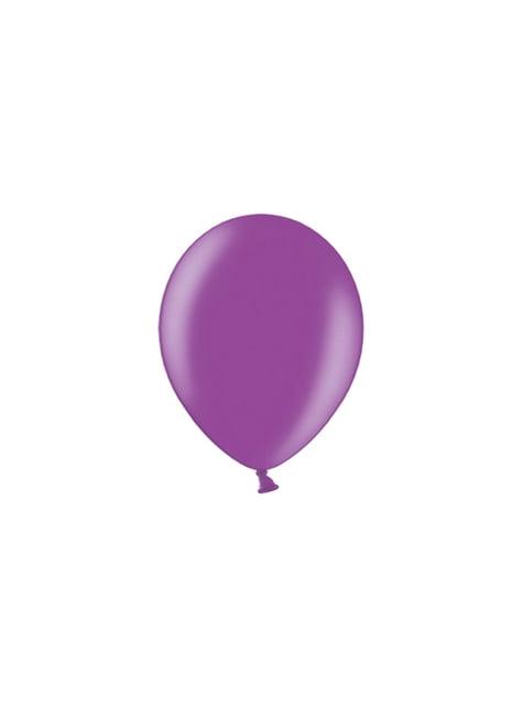 100 balões de cor roxa (25cm)