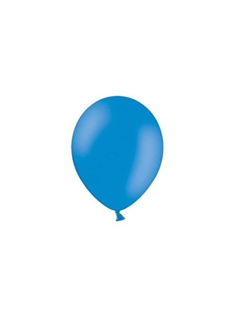 100 globos color azul oscuro (25 cm)
