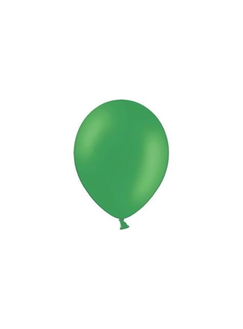 100 globos color verde esmeralda (25 cm)