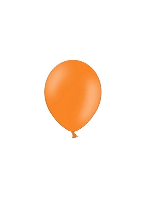 100 globos color naranja oscuro (25 cm)