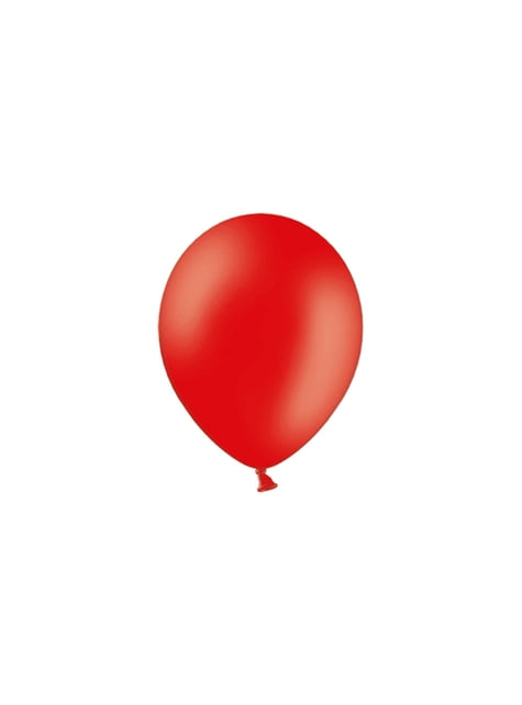 100 globos color rojo intenso (25 cm)