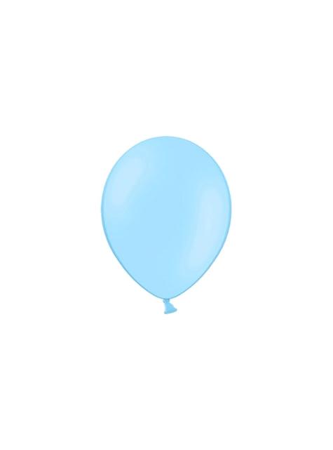 100 globos color azul cielo claro (25 cm)