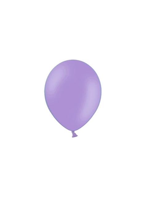 100 balões de cor violeta (25cm)