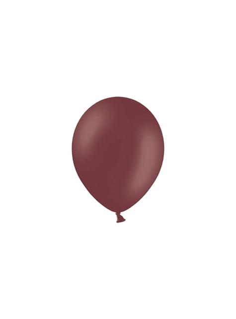 100 ballons 25 cm couleur grenat