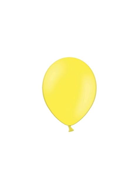 100 globos color azul amarillo intenso (25 cm)