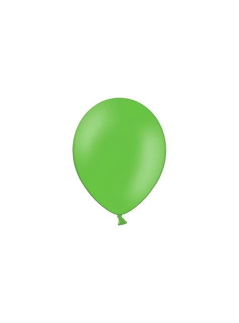 100 globos color verde suave (25 cm)