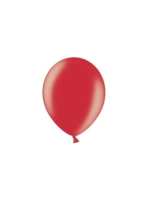 100 ballons 29 cm couleur rouge