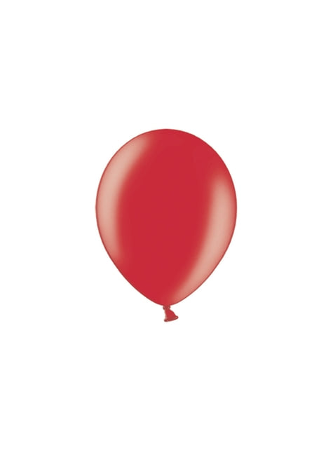 100 globos color rojo (29 cm)