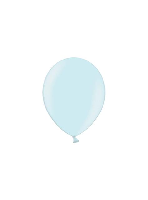 100 balónků v nebesky modré barvě, 29 cm