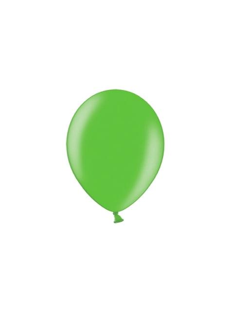 100 balónků ve světlezelené barvě, 29 cm