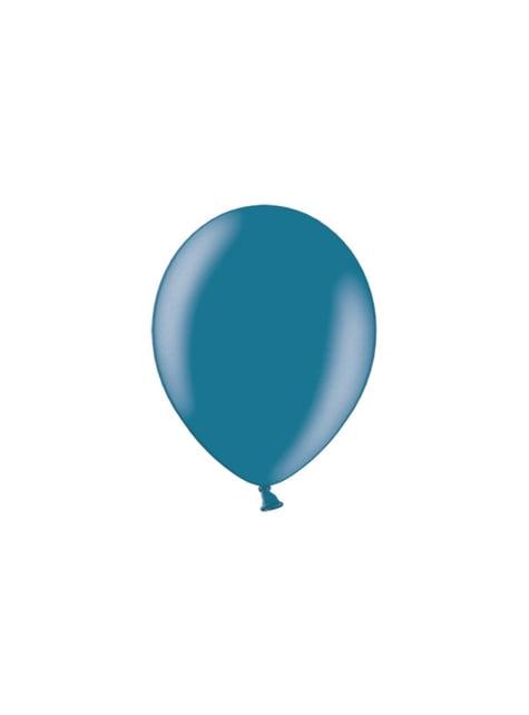 100 globos color azul marino (29 cm)