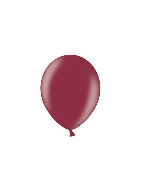 100 globos color granate oscuro (29 cm)