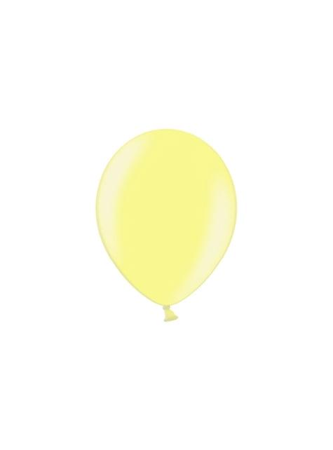 100 ballons 29 cm couleur jaune